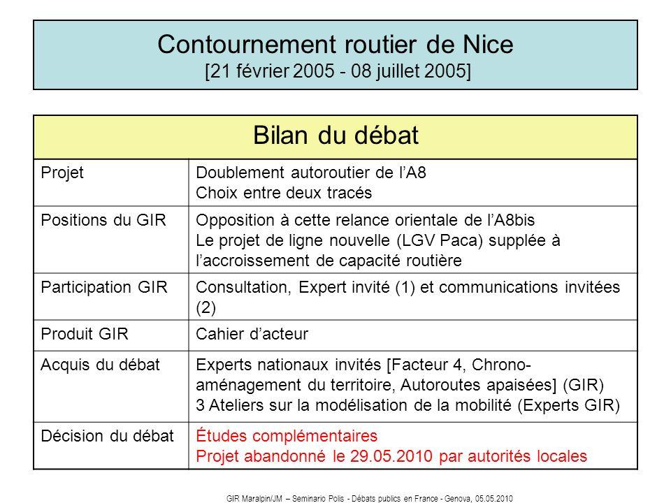 Contournement routier de Nice [21 février 2005 - 08 juillet 2005]